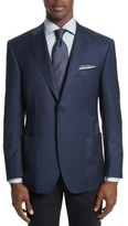 Canali Men's Siena Classic Fit Check Wool Sport Coat