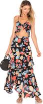 Flynn Skye Michelle Maxi Dress in Black. - size L (also in )