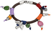 Uno de 50 Boo Beaded Leather Bracelet