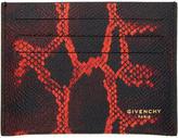Givenchy Black Python Card Holder