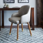 west elm Saddle Swivel Office Chair - Leather