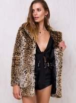 Winona Faux Fur Leopard Coat