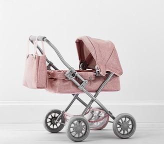 Pottery Barn Kids Pink Glitter Mini Pram Doll Stroller