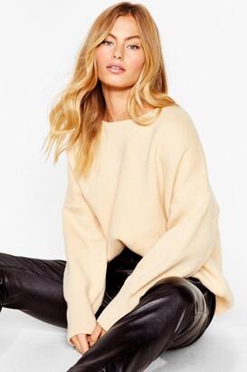Nasty Gal Womens Summer's Oversized Knit jumper - Black - S, Black