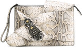 No.21 python effect embellished clutch - women - Leather/metal/glass - One Size