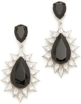 Kenneth Jay Lane Jet and Crystal Teardrop Earrings