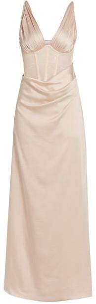 Jonathan Simkhai Maeve Silk Lingerie Lace Wrap Dress