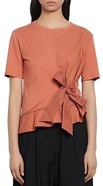 Sandro Node Bow Detail T-Shirt