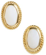 Anna Beck Women's White Opal Stud Earrings