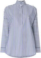 Akris Punto striped stand-collar shirt