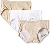 Hanes Women's 3 Pack Ultimate Cotton Stretch Hipster Panties 41KS