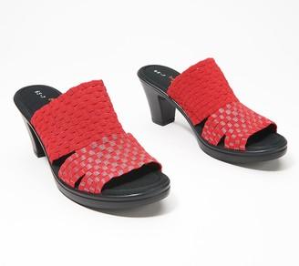 Bernie Mev. Shimmer Knit Heeled Sandals - Clarkia