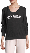 Wildfox Couture BBJ Let's Just Go V-Neck Sweater