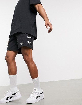 Reebok Classics shorts in black with vector logo