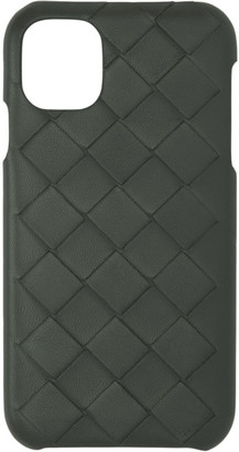 Bottega Veneta Grey Intrecciato iPhone XR Phone Case