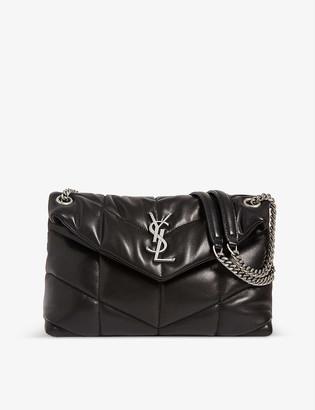 Saint Laurent Lou Lou metallic-leather shoulder bag
