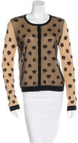RED Valentino Wool-Blend Lace-Accented Cardigan
