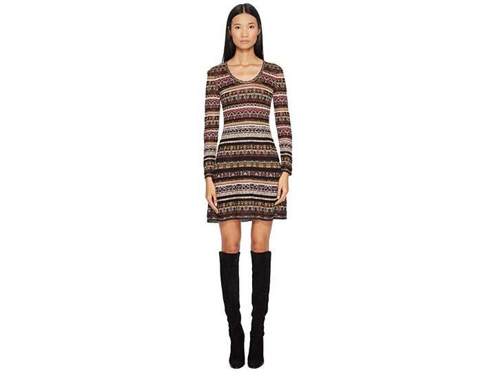 M Missoni Floral Lurex Jacquard Dress Women's Dress