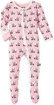 Kickee Pants Print Ruffle Footie (Baby) - Lotus Panda - 6-12 Months