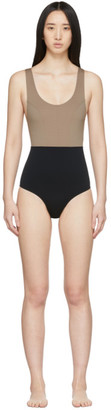 Ernest Leoty Taupe and Black Victoire One-Piece Swimsuit