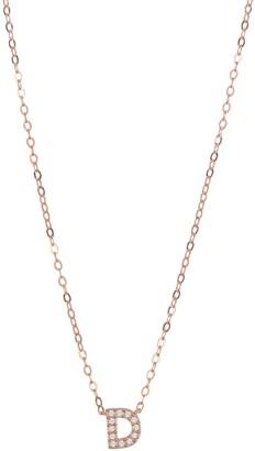 Nadri Pave CZ Initial Pendant Necklace