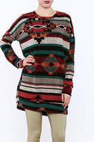 Bellamie Aztec Print Tunic Top