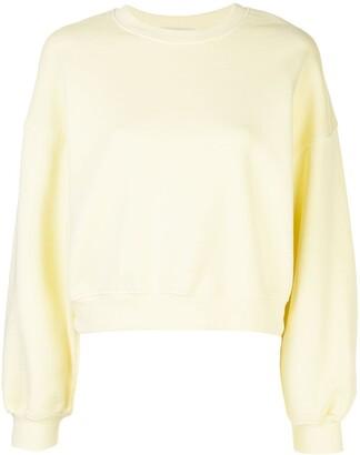 A Gold E AGOLDE wide sleeve cropped sweatshirt