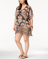 Becca ETC Plus Size Southern Belle Printed Tunic Cover-Up