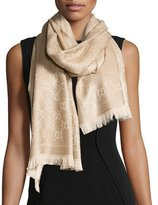 Gucci Shimmer Stencil Scarf, Gold