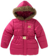 Juicy Couture Pink Puffer Faux Fur Trim Hooded Jacket (Toddler Girls)