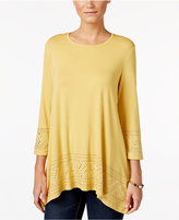JM Collection Embellished Tunic Top, Only at Macy's