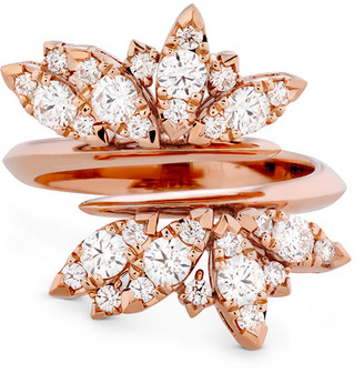 Hearts On Fire 18K Rose Gold 0.52 Ct. Tw. Diamond White Kites Feathers Ring
