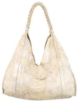 Nancy Gonzalez Python Braided Strap Hobo
