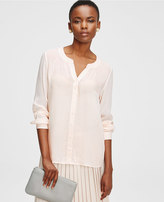 Ann Taylor Tall Silky Striped Blouse
