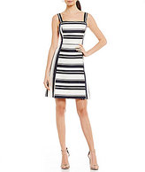 Eliza J Stripe A-Line Dress