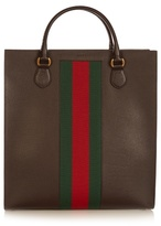 Gucci Web-panel Leather Tote