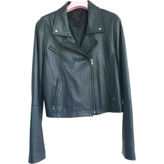Veda Green Leather Jacket for Women