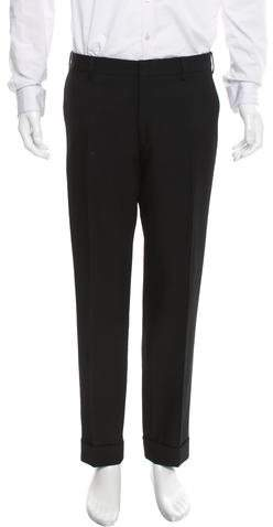 Dries Van Noten Cropped Wool Pants