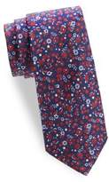 Saks Fifth Avenue Scattered Floral Silk Tie