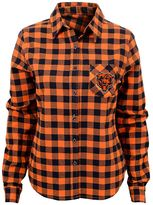 Juniors' Chicago Bears Buffalo Plaid Flannel Shirt