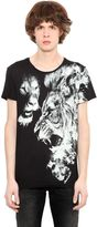 Roberto Cavalli Lion Printed Cotton Jersey T-Shirt