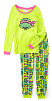 Briefly Stated Green & Pink TMNT Pajama Set - Juniors