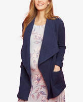 Motherhood Maternity Draped Open-Front Coat