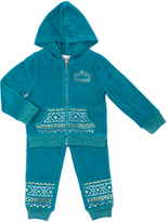 Little Lass Lapis Geometric Velour Hooded Jacket Set - Infant, Toddler & Girls