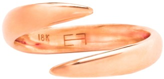 Eva Fehren 18kt Rose Gold Wrap Claw Pinky Ring