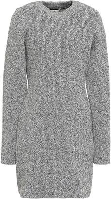 Tibi Marled Ribbed-knit Mini Dress