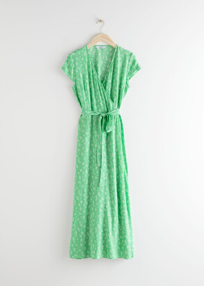 And other stories Floral Midi Wrap Dress