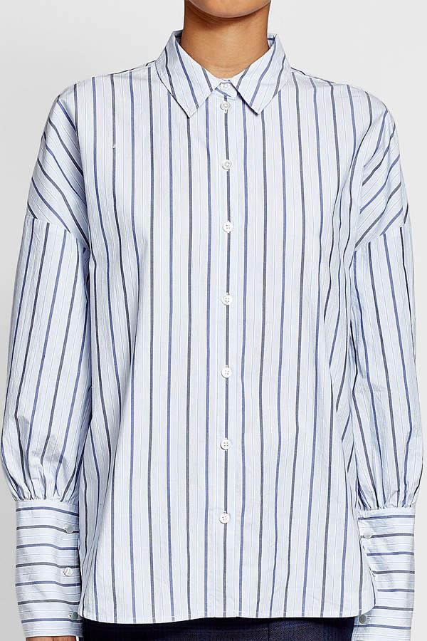 Tibi Striped Cotton Shirt