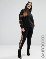 Asos Leggings With Lace Up Side