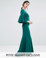 Jarlo Petite Maxi Dress With Bell Sleeve And Button Back Detail